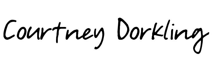 Courtney Dorkling Font