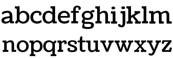Coustard Font LOWERCASE