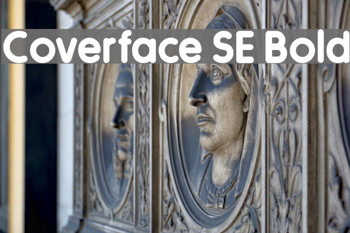 Coverface SE Bold फ़ॉन्ट examples
