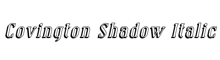 Covington Shadow Italic  Free Fonts Download