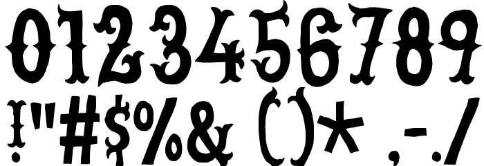 CowboyJunkDEMO Font OTHER CHARS