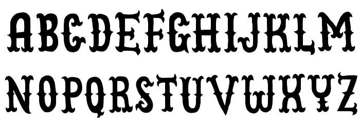 CowboyJunkDEMO Font LOWERCASE