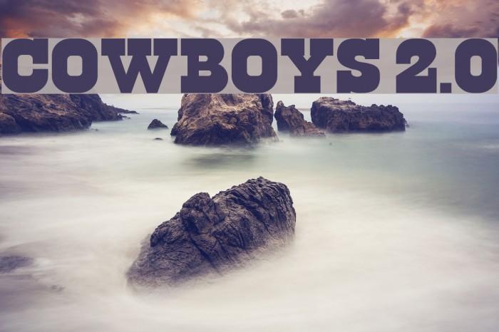 Cowboys 2.0 Font examples