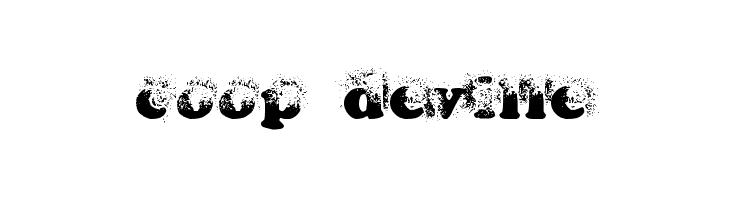 coop deville  Free Fonts Download