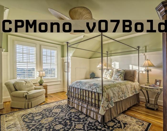 CPMono_v07Bold फ़ॉन्ट examples