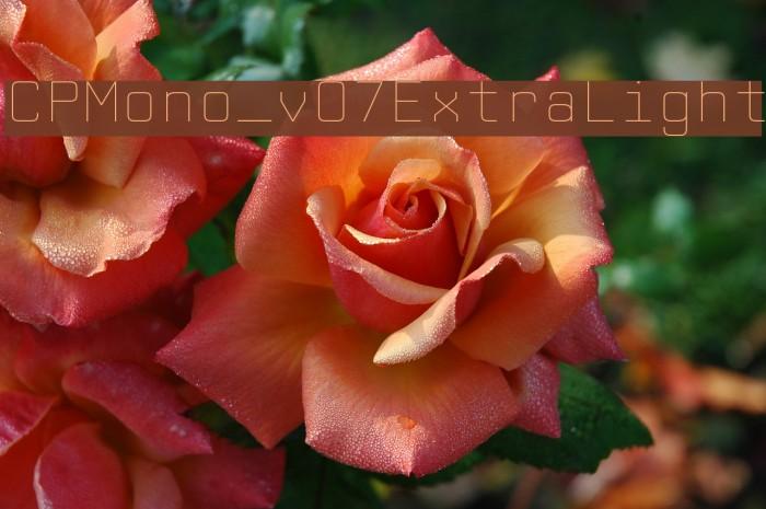 CPMono_v07ExtraLight Font examples