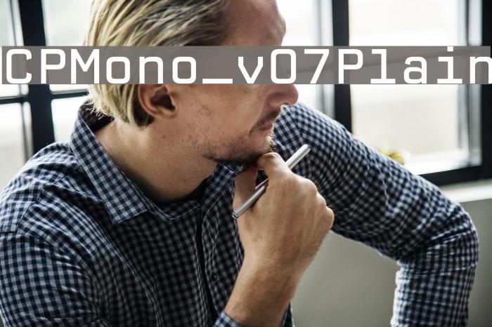 CPMono_v07Plain Font examples