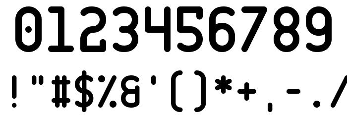 CQ Mono Font Alte caractere