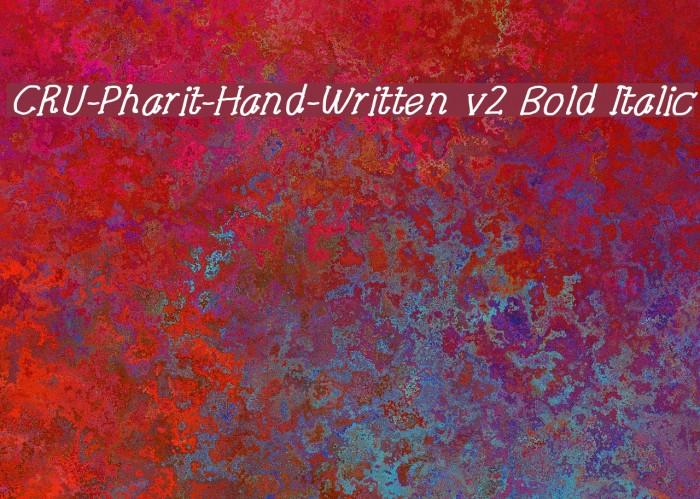 CRU-Pharit-Hand-Written v2 Bold Italic لخطوط تنزيل examples