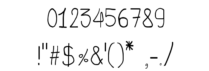 CRU-Todsaporn-Hand-Written Шрифта ДРУГИЕ символов