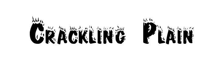 Crackling Plain  नि: शुल्क फ़ॉन्ट्स डाउनलोड