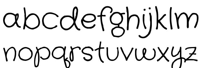 Crafty Girls Font LOWERCASE