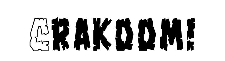 Crakoom!  Free Fonts Download