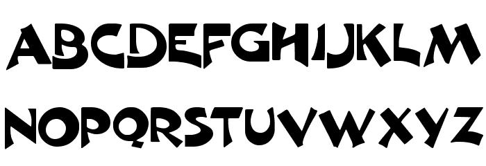 Crane  Normal Font UPPERCASE