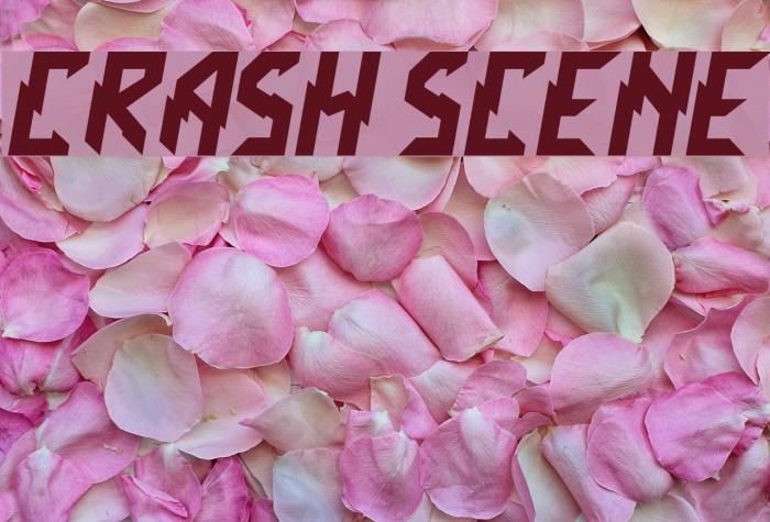 Crash Scene Font examples