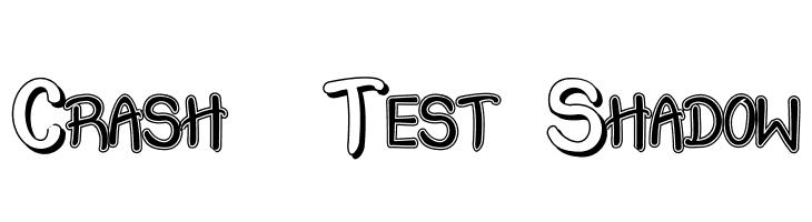Crash  Test Shadow  Fuentes Gratis Descargar