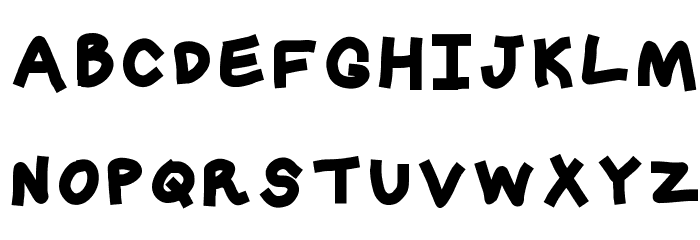 Crashy Font UPPERCASE