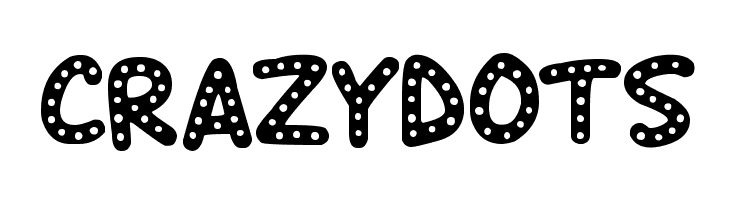 Crazy Dots  フリーフォントのダウンロード