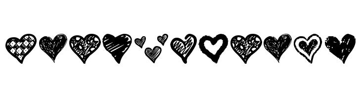 Crazy Hearts  フリーフォントのダウンロード