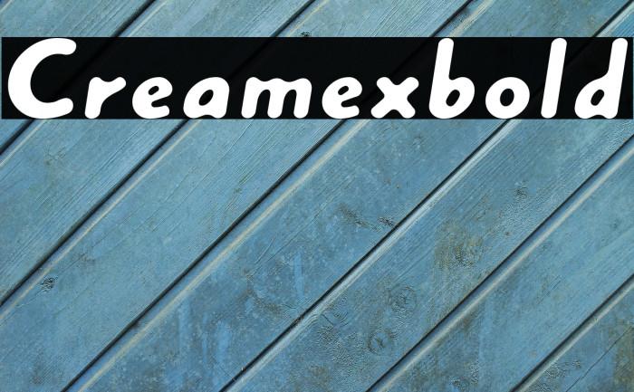 Creamexbold Font examples