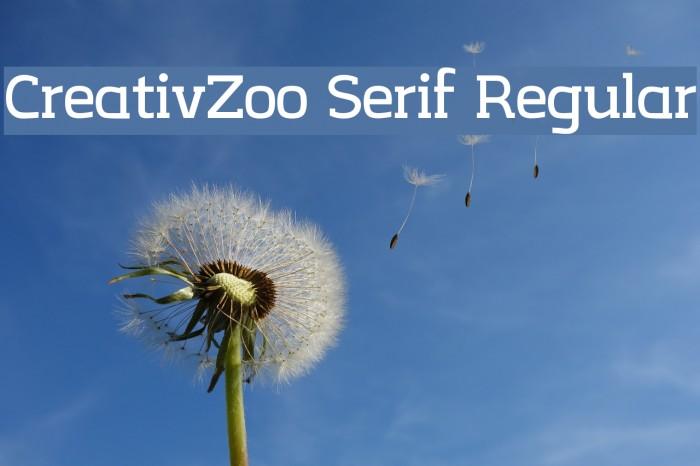 CreativZoo Serif Regular Font examples