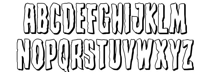 Creepy Crawlers 3D Font LOWERCASE