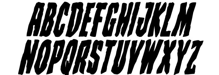 Creepy Crawlers Bold Italic Font UPPERCASE