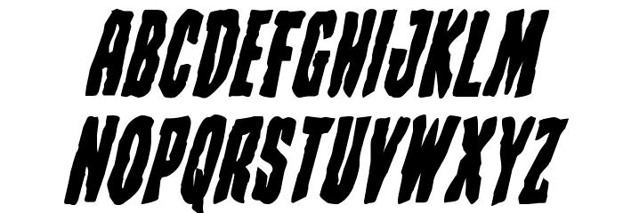 Creepy Crawlers Bold Italic Font LOWERCASE