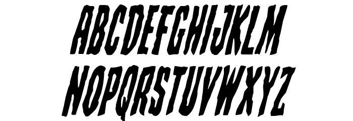 Creepy Crawlers Condensed Italic Font LOWERCASE