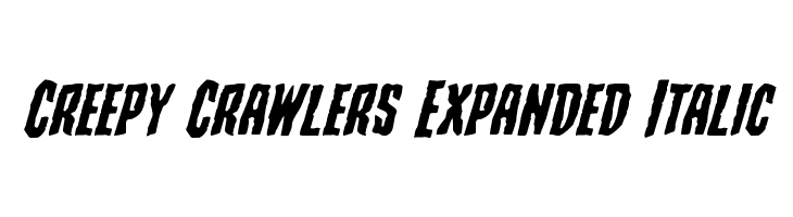 Creepy Crawlers Expanded Italic  Free Fonts Download