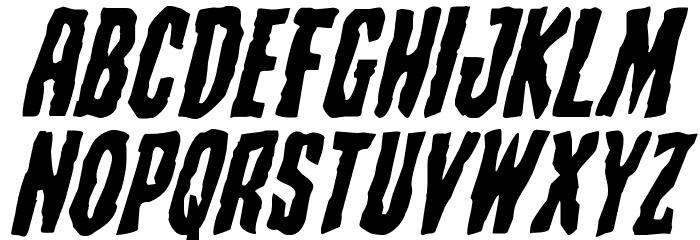Creepy Crawlers Expanded Italic Шрифта ВЕРХНИЙ