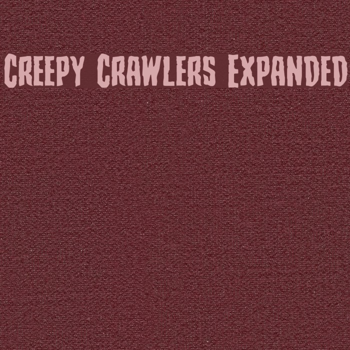 Creepy Crawlers Expanded Fonte examples