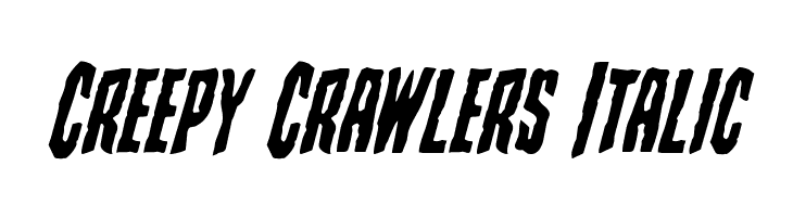 Creepy Crawlers Italic  Free Fonts Download