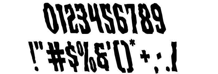 Creepy Crawlers Leftalic Font OTHER CHARS