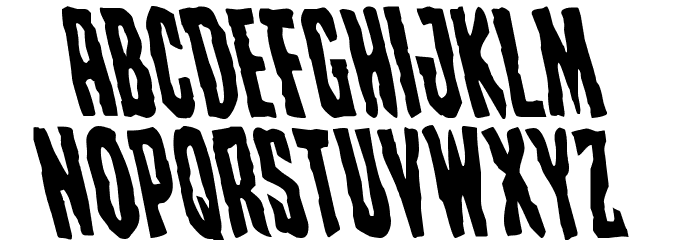 Creepy Crawlers Leftalic Font UPPERCASE