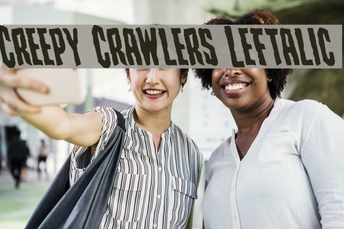 Creepy Crawlers Leftalic Schriftart examples