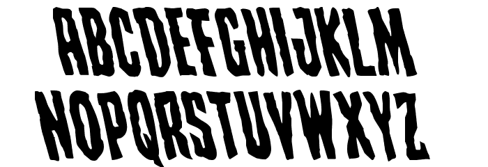 Creepy Crawlers Leftalic Font LOWERCASE