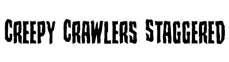 Creepy Crawlers Staggered  Free Fonts Download