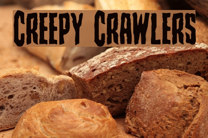 Creepy Crawlers Schriftart examples