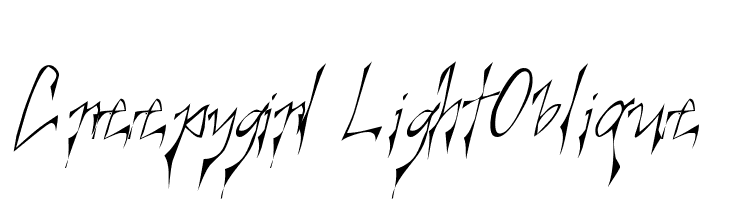 Creepygirl LightOblique  Free Fonts Download