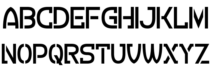 Crevice Stencil Font LOWERCASE