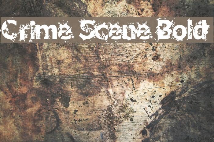 Crime Scene Bold Font examples