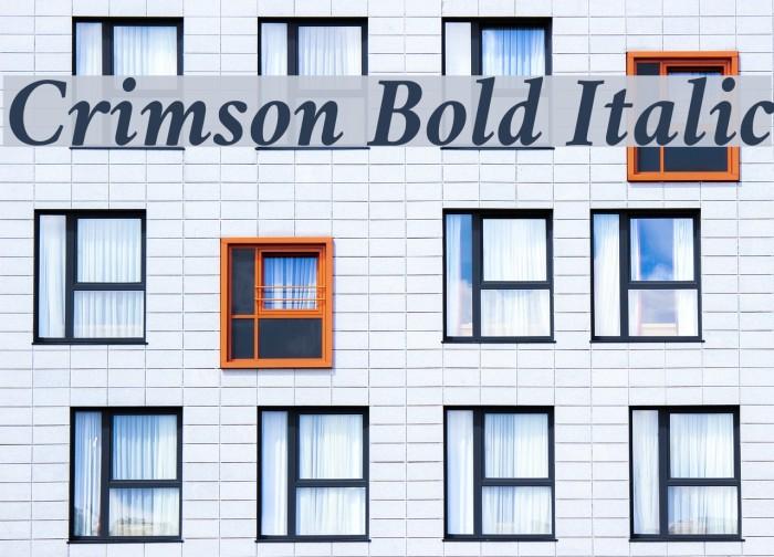 Crimson Bold Italic Font examples