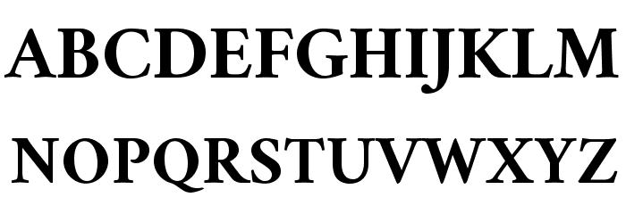 Crimson Bold Font UPPERCASE