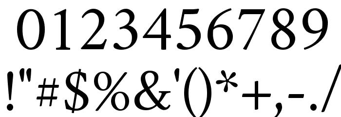Crimson Roman Font OTHER CHARS