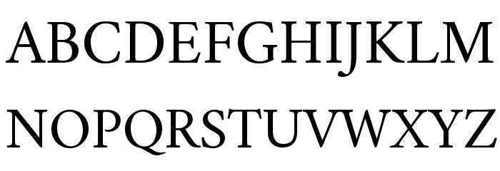 Crimson Roman Font UPPERCASE
