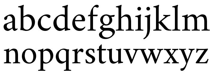 Crimson Roman Font LOWERCASE