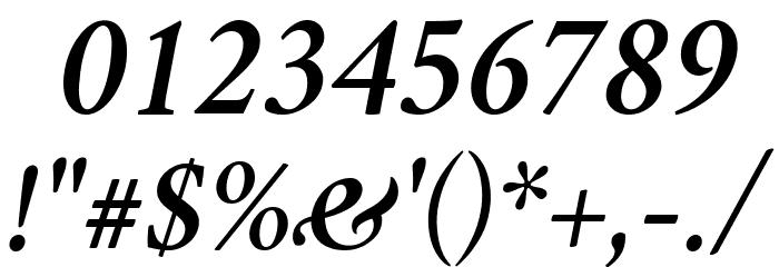 Crimson Semibold Italic Font OTHER CHARS