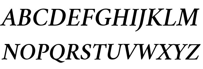 Crimson Semibold Italic Font UPPERCASE