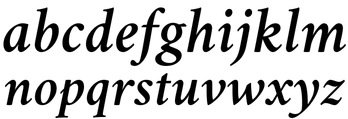 Crimson Semibold Italic Font LOWERCASE